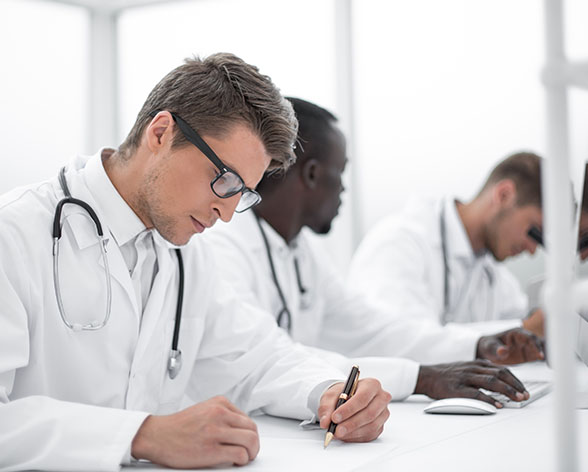 physicians studying